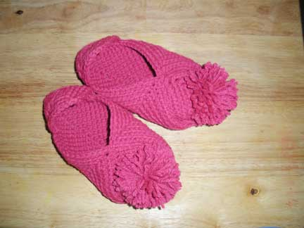 Completed Slippers