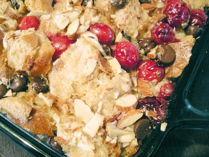 Cranberry Chocolate Bread Pudding