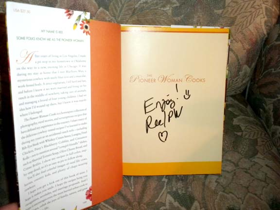 Signed by the Author Ree Drummond!