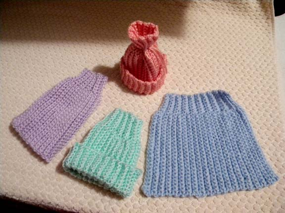 Crocheted Premature Baby Hats