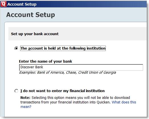Quicken 2010 Tutorial Series Screenshot How to Add An Account
