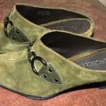 Aerosole Cinchcerity Olive Suede Mules