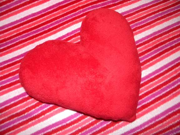 Heart Throw and Pillow