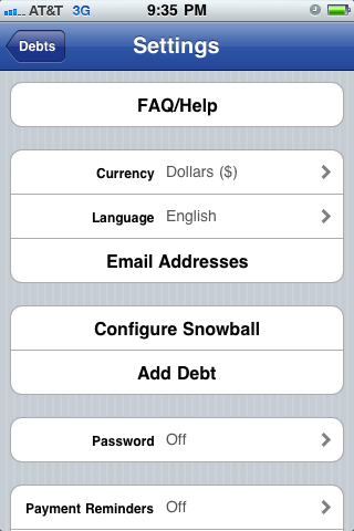 Pay Off Debt iPhone App