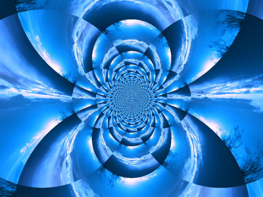 Blue Sunset in Kaleidoscope