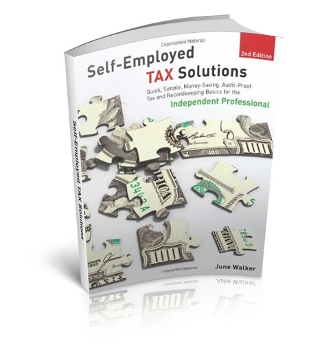 Self Employed TAX Solutions Book by June Walker