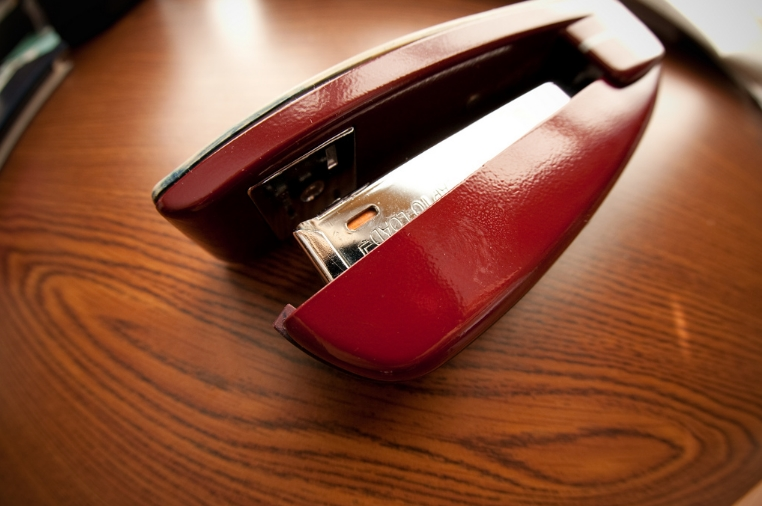 Red Stapler by Flickrite Ivy Dawned